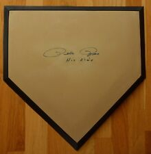 Pete Rose Signed Baseball Official Home Plate,  Plus Certificate of Authenticity