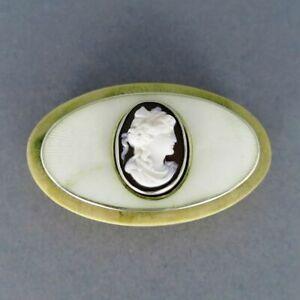 Antique Art Nouveau Door Bell Bakelite, Silver, Enamel, Cameo Georg Adam Scheid