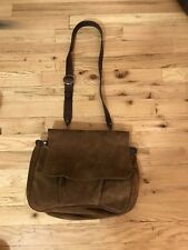 Polo Ralph Lauren Brown Suede Leather Messenger Bag Briefcase RRL Rugby