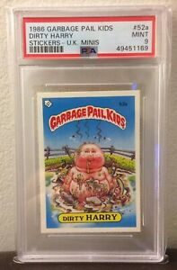 Dirty Harry 52a ~UK GARBAGE PAIL KIDS SERIES 2 1986~PSA 9 MINT~ CENTERED~RARE