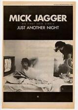 Mick Jagger Just Another Night Rolling Stones Advert NME Cutting 1985