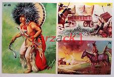 Album LONTANO WEST 1 DARDO 1962 - 4 figurine 67 68 69 70