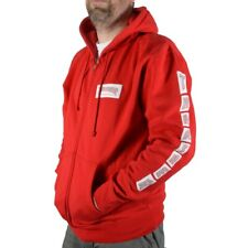 Thrasher Magazine BOXED LOGO ZIP UP Skateboard Hoodie RED SMALL