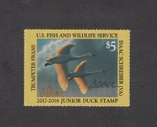 JDS25 - Junior Federal Duck Stamp. Artist Signed Single MNH. OG.  #02 JDS25AS