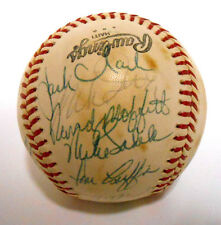Willie McCovey Vida Blue Jack Clark Signed Autographed 1979 SF Giants Baseball