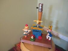 Vintage Nursery Originals Lamp Circus Musical Plays Go to Sleep Lt Wood Works