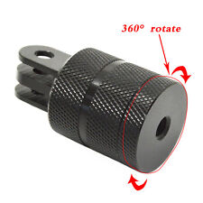 "360° Rotating Aluminum 1/4"" Tripod Mount Adapter For SJCAM Gopro Hero1/ 2/3/3+/4"