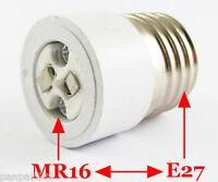10x E27 Male to MR16 Female Socket Base LED Halogen CFL Light Bulb Lamp Adapter