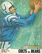 1966 10/9 NFL Football Program, Baltimore Colts @ Chicago Bears~Wrigley Field~Gd