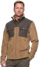 Men's Columbia Flattop Ridge Omni-Wick Fleece Jacket Grey/Brown Size: S MSRP $90