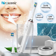 Electric Toothbrushes Sonic Oral Care WHITE Teeth Dental Clean 4Mode Travel case