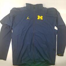 3f2b88f913a010 Jordan Michigan Wolverines Icon Full Zip Jacket Football Sideline Jacket 2XL