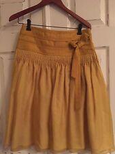 Hugo Boss Gold Silk Skirt Sz 4