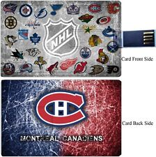 Montreal Canadiens credit card size 8GB Hot Model USB 2.0 Memory Stick Flash.