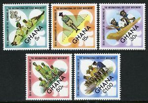 Ghana 460-464, MNH Garçon Scout Mouvement, 65th Anniv. Mer Scouts, Cub 1972