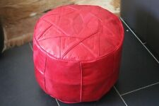 Ottoman Genuine Leather morrocan Footstool