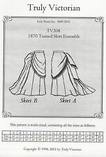 Schnittmuster Truly Victorian TV 208: Trained Skirt Ensemble
