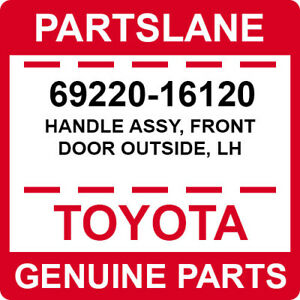 69220-16120 Toyota OEM Genuine HANDLE ASSY, FRONT DOOR OUTSIDE, LH