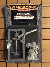 40K Rare oop Blister Metal Space Marine Dark Angels Chief Librarian Ezekiel NIB
