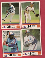 VERY RARE 1983 MONTREAL EXPOS MILLS + SMITH + BURRIS + WHITE STUART CARD