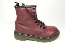 Dr Martens Delany Boys cherry leather Boots Size 11 Eu 29