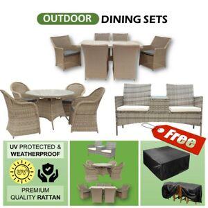 7pc 5pc 2pc Dining Sofa Rattan Wicker Outdoor Furniture Lounge Patio Set Stylish