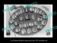OLD LARGE HISTORIC PHOTO NEW ZEALAND ALL BLACKS RUGBY UNION TEAM 1957 AUST TOUR
