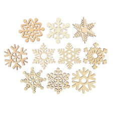 10x Wooden Christmas Snowflakes MDF Craft Blanks 10 designs decoration 50mm