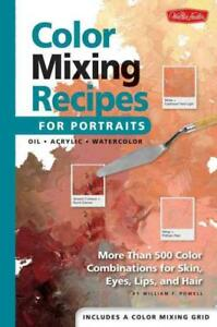 COLOR MIXING RECIPES FOR PORTRAITS - POWELL, WILLIAM F. - NEW HARDCOVER BOOK