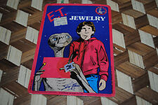 E.T. Extra Terrestrial Vintage Jewelry Pendant LOGO 1982 UNPUNCHED Rare SEALED