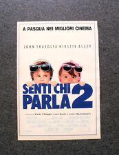 I234-Advertising Pubblicità-1990- SENTI CHI PARLA 2 , J. TRAVOLTA K. ALLEY