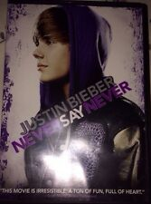 THE JUSTIN BIEBER DVD NEVER SAY NEVER