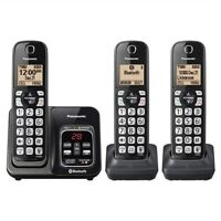 Panasonic KX-TG833SK 3 Handset Cordless Phone Link2Cell Voice Assist