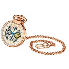 Stuhrling Original 991 03 Modena Mechanical Automatic Skeleton Mens Pocket Watch