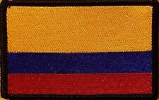 COLOMBIA Flag Embroidered Iron-On Patch Military Emblem Black Border