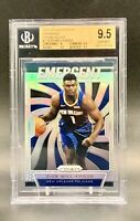 ❤️2019 ZION WILLIAMSON Rookie Prizm Silver Panini Emergent Gem Mint 9.5 BGS❤️