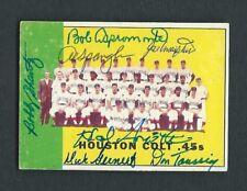 1963 Topps Card #312 Signed 1962 Houston Colt .45s Team Card 7 Autographs EX