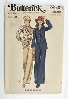 """1970's Vintage Sewing Pattern Butterick 3395 Misses Top and Pants Bust 36"""""""