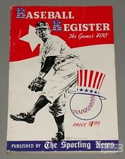 Rare 1941 Sporting News Baseball Register Guide