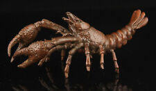 China Hand-carved Retro Pure Copper Exquisite Lobster Desktop Decoration