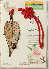 Traditional Korean reader Metal Bookmark - Leaf(Gold1)