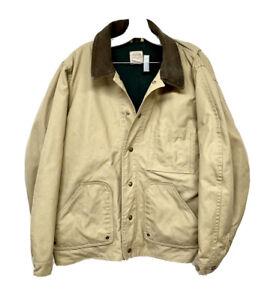 Vtg FILSON Dry Finish Tin Cloth Jacket XL