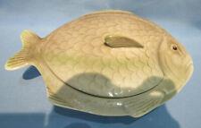 More details for vintage shorter & son earthenware fish shaped lidded tureen