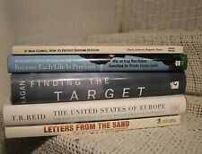 lot 5 military Books Letters from Desert storm How to defeat Saddam Hussein etc