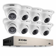 ZOSI CCTV System 8CH 1080N HDMI DVR Home CCTV Security System 720p Dome Cameras
