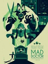 Tom Whalen Mickey Mouse 1933 Mad Doctor Mondo Print Poster Disney