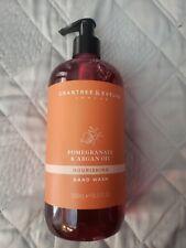 Crabtree & Evelyn Pomegranate & Argan Oil Hand Wash Liquid Soap 16.9 Fl Oz Pump