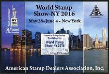 St.Vincent Grenadines 2016 Asda World Stamp Show Souvenir Sheet Mint Nh