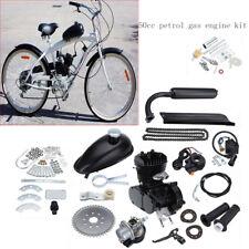 50cc Motorised Bicycle Push Bike 2 Stroke Motor Engine Kit Black 30km/h Fuel Typ