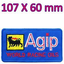Agip Embroidered Iron on Patch Racing Oil Ferrari Lamborghini PORSCHE Sport Team
